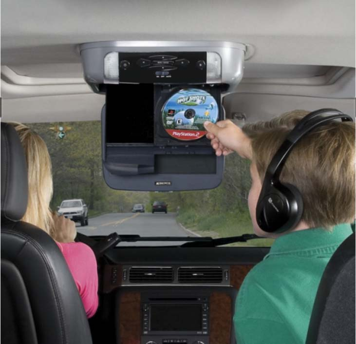 playstation overhead video system in car