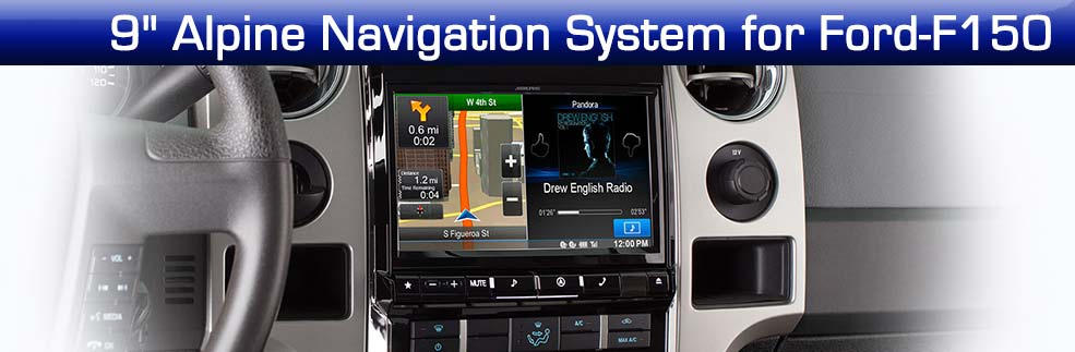 9 inch Alpine Navigation System for Ford-F150