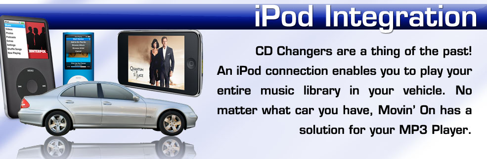 Play your ipod in your car. Adapters installed in New York on Long Island Nassau County