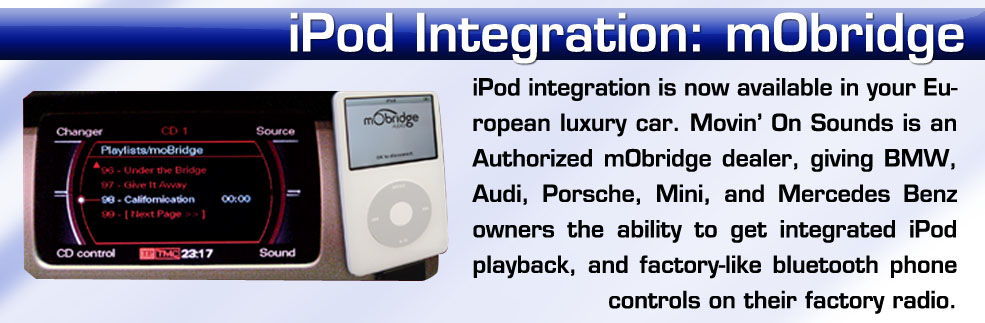 play an ipod in a european car with mobridge