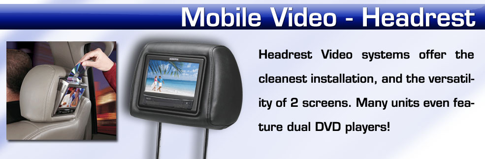 headrest monitors for your car installed in New York on Long Island Nassau County