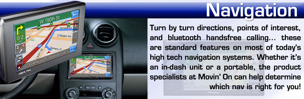 Navigation systems for your car or truck installed in New York on Long Island Nassau County