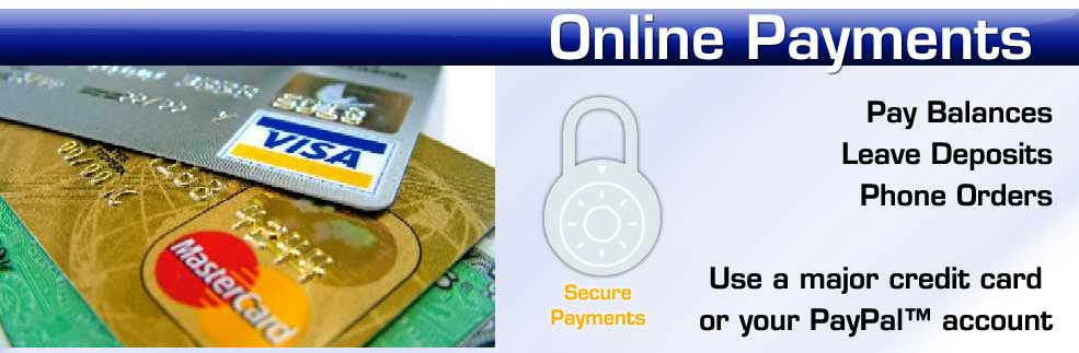 Submit credit card payments to Movin' On Sounds & Security, Inc.