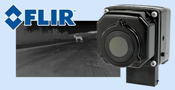 FLIR night vision cameras let you see objects on the road in complete darkness