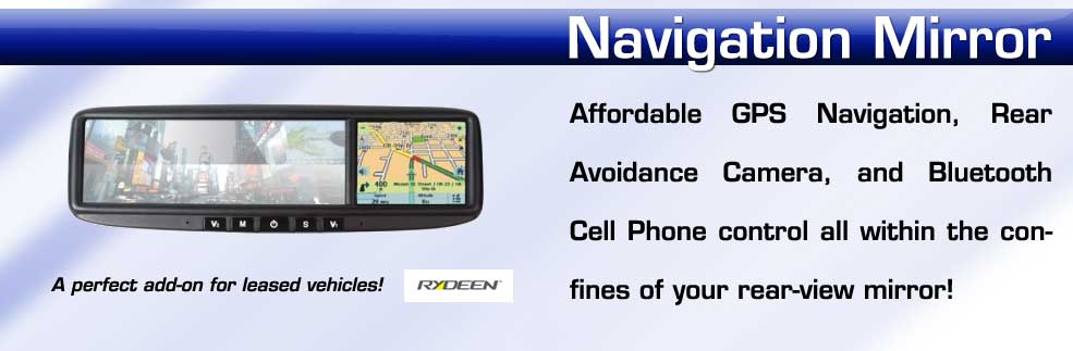 affordable navigation mirror with backup camera and bluetooth